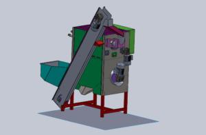Décortiqueuse de châtaignes (microbruleur) - Étude 3D
